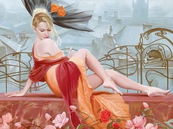 Художник Светлана Валуева. Я люблю рисовать женщин