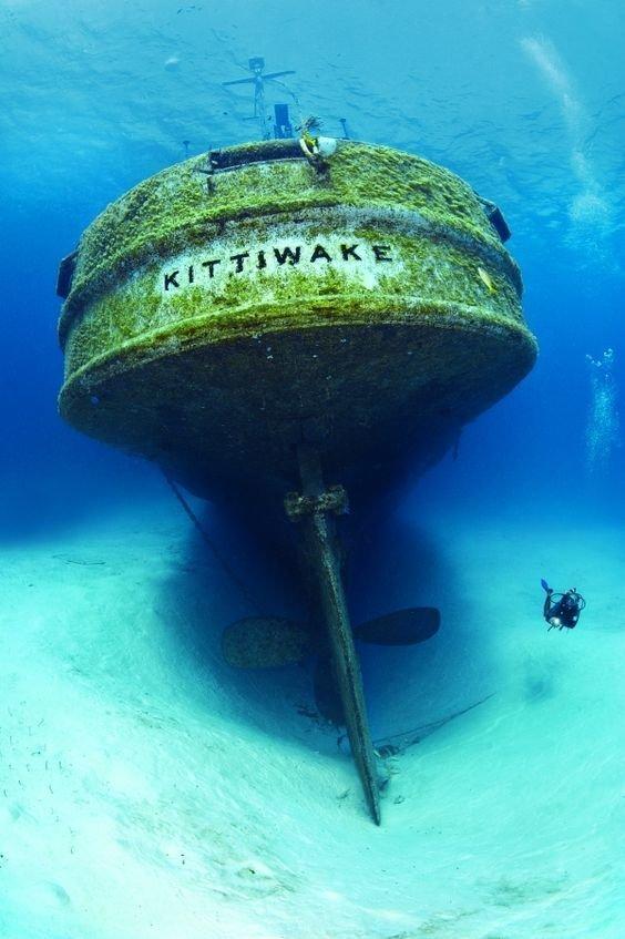 Поглощенные водой - ужас и красота затонувшей техники жизнь, затонувшие, под водой, страшно, техника, удивительно