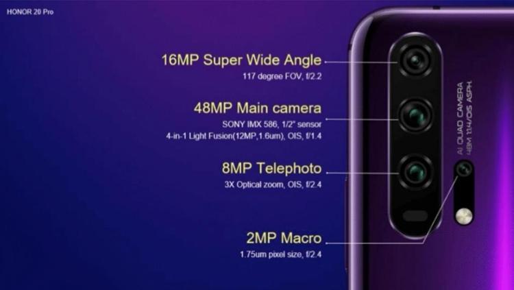 Раскрыта конфигурация многомодульной камеры смартфонов Honor 20 новости,смартфон,статья