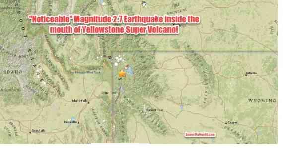 Свершилось: Землетрясение M2.7 непосредственно в устье кальдеры Йеллоустон