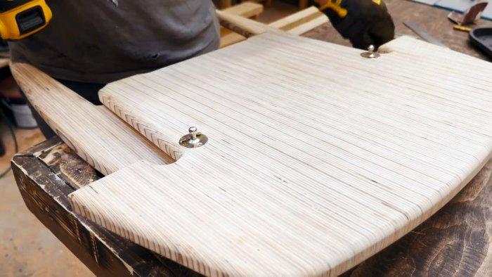 Как из обрезков фанеры сделать складное кресло для дома и дачи,мастер-класс,мебель