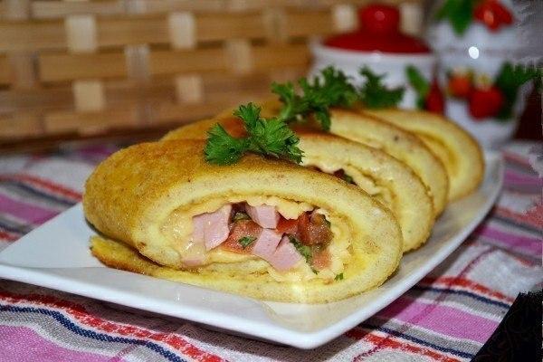 Яичные роллы с начинкой на завтрак «Япония рядом»