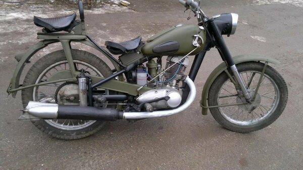 С чего начинались мотоциклы ИЖ, древний ИЖ 49 мото