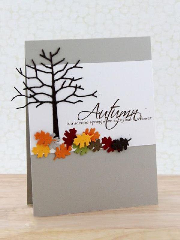 осенние открытки скрапбукинг