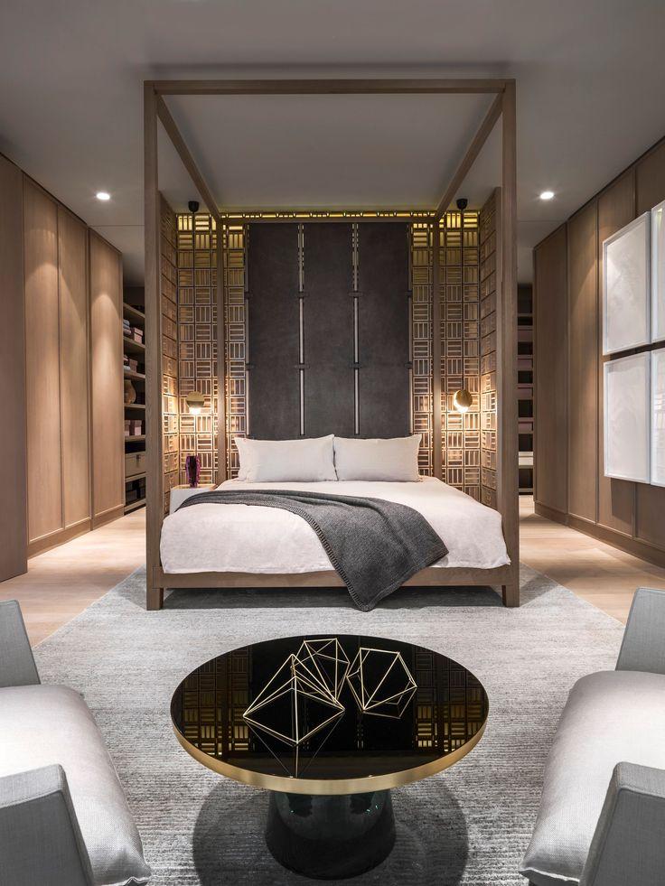 Спальня в цветах: Коричневый, Светло-серый, Серый, Темно-коричневый, Черный. Спальня в стиле: Минимализм.