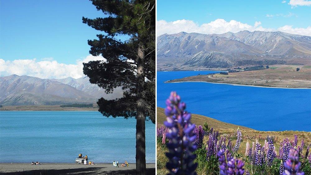 Удивительная красота озера Текапо в Новой Зеландии (Lake Tekapo) пейзажи