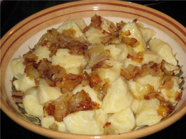 Картофельные галушки по закарпатски