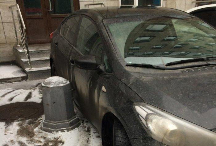 Эффектная месть любителю неправильно парковаться