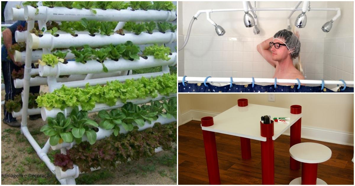 Мини-ферма, мебель и аксессуары для дома с использованием труб ПВХ