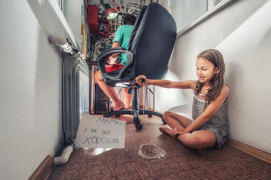 Папа и дочка отправили лучший в мире фотоотчет для мамы в командировке