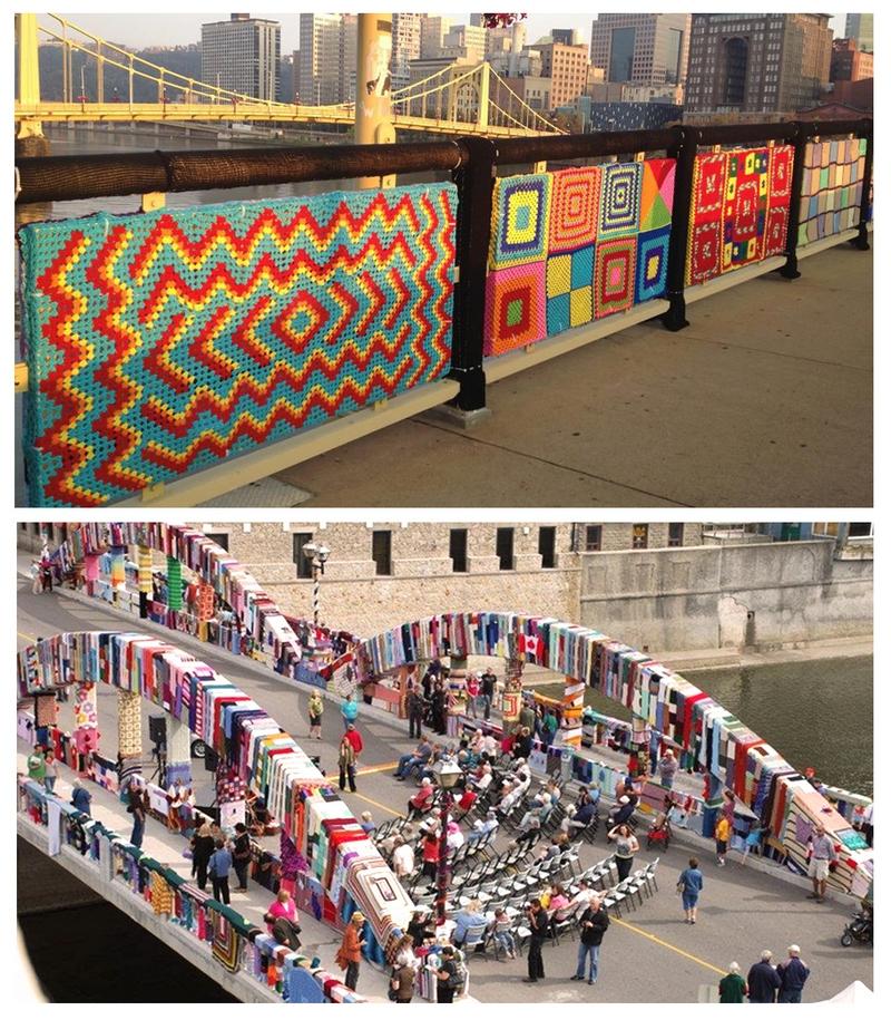 Уличное вязание Ярнбомбинг  - основа городского уюта вязание,рукоделие,творчество