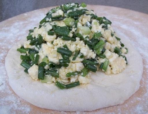 Сванские хачапури с зеленым луком (2)