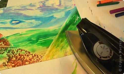 Картина, панно, рисунок, Мастер-класс Энкаустика: как я рисую утюгом Воск. Фото 12