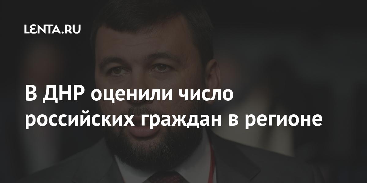 В ДНР оценили число российских граждан в регионе Бывший СССР