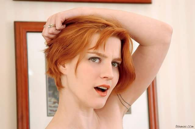 Hairy redhead polly video