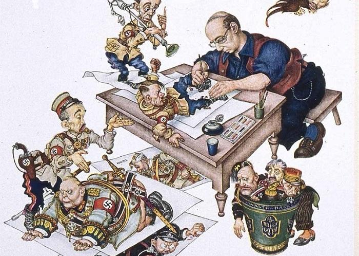 Нешуточные карикатуры Артура Шика, за которые художник был объявлен личным врагом Адольфа Гитлера
