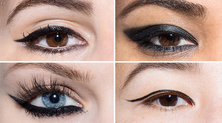 Идеальные стрелки для любой формы глаз: следуй простым схемам!