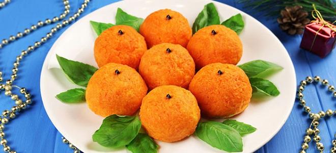 салат мандаринки на новый год