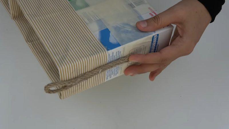 Девушка склеила три тетрапака и добавила ткань, чтобы сделать чудную вещь переделки,рукоделие,своими руками,сделай сам