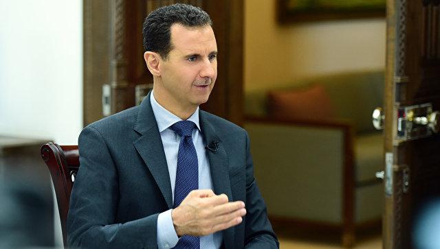 """Асад не исключил, что Сирии понадобится помощь российской армии """"на земле"""""""