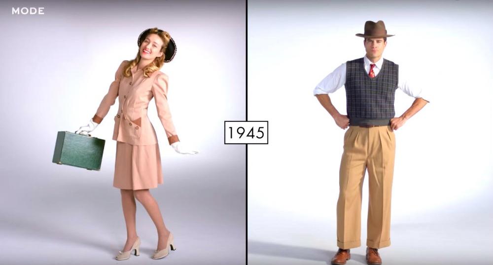 Как стремительно менялась мода последних 100 лет в двух минутах