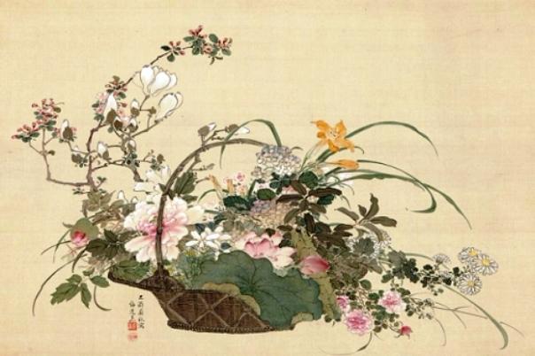 Был сон безмятежен и сладок...художник Yamamoto Baiitsu