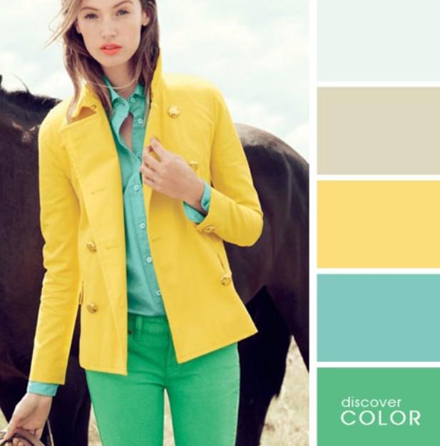 16 примеров идеального сочетания цветов в одежде... Крутая шпаргалка!
