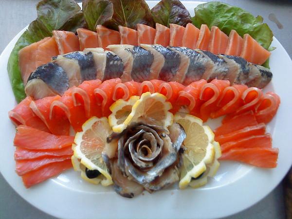 Красивые рыбные нарезки на Новогодний стол!