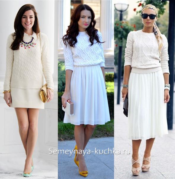 057486572c7 Белая юбка с чем носить  четыре правила