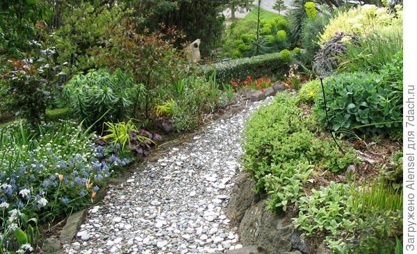 насыпная садовая дорожка
