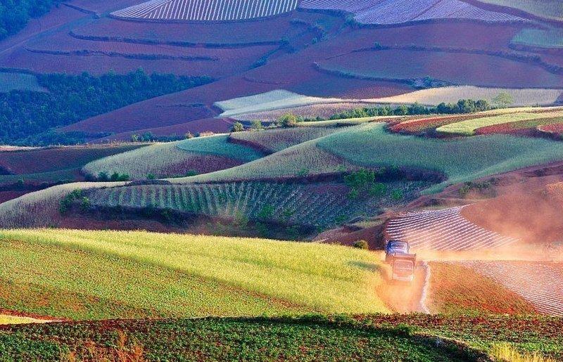 Сезон сбора урожая в провинции Юньнань виды, города, китай, красота, необыкновенно, пейзажи, удивительно, фото