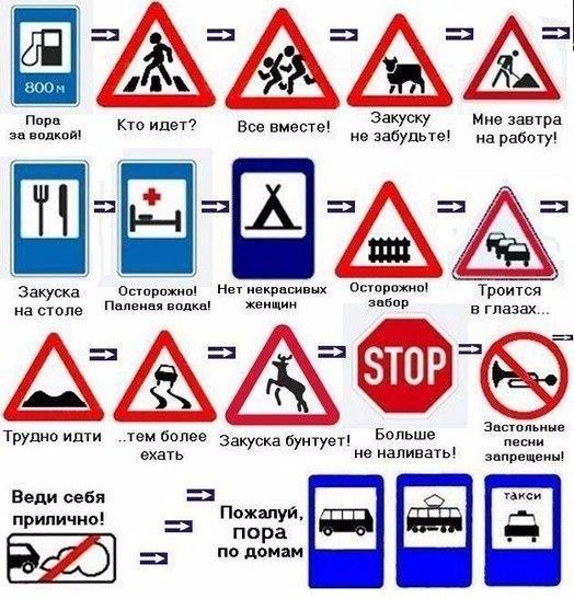 Приколы про дорожные знаки картинки, открытку днем свадьбы