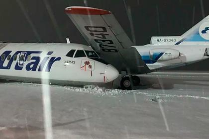 Появилось видео столкновения самолетов в российском аэропорту
