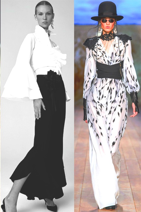 Сочетание черного и белого в модных образах от известных дизайнеров