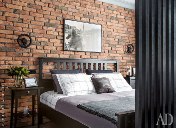Фрагмент спальни. Мебель IKEA.