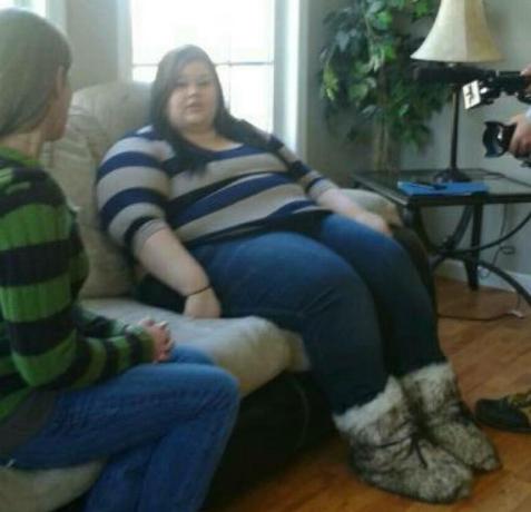 Девушка сбросила больше 90 килограмм, отказавшись ложиться под нож