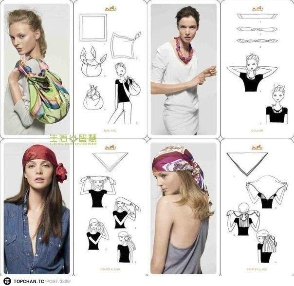 20 оригинальных вариантов как носить шарф 1