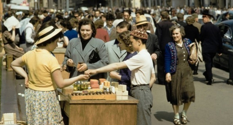 Уличная торговля в Москве 19…