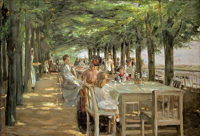 "The Terrace at the Restaurant Jacob in Nienstedten on the Elbe"" (1902-03) in the Frame (655x445, 401Kb)"