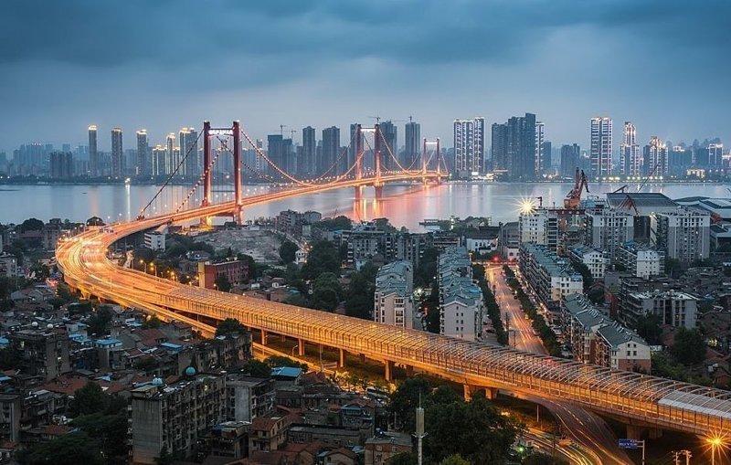 Мост Иньвучжоу в городе Ухань виды, города, китай, красота, необыкновенно, пейзажи, удивительно, фото