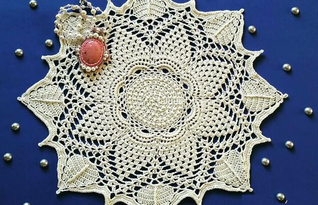 салфетки крючком со схемами простые и красивые схема вязания
