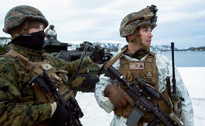 Американские морские пехотинцы отморозили себе задницы на учениях в Норвегии