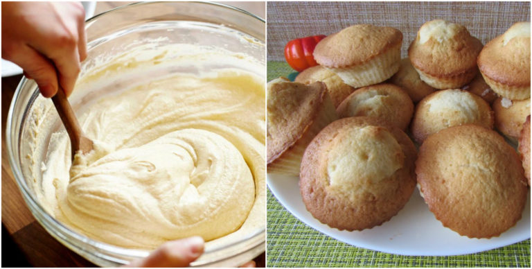 Стакан кефира, стакан манки и 1 яйцо для самых вкусных кексов