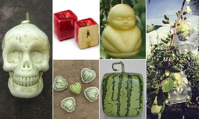 В Китае стали выращивать дизайнерские овощи и фрукты