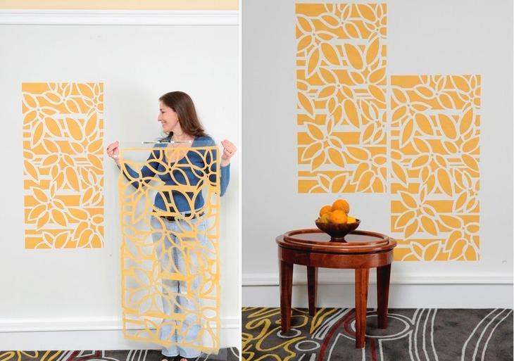 Трафареты для стен своими руками: тонкости и секреты техники декор,для дома и дачи,интерьер