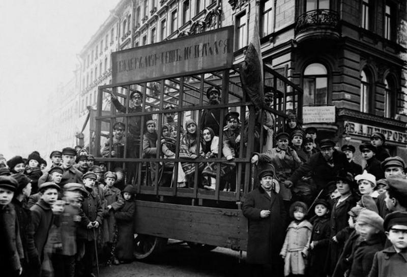 Агитационный автомобиль, 1 мая 1919 года, Петроград история, картинки, фото