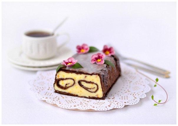 Десерт «Манная шоколадка»