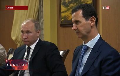 Путин в беседе с Асадом отметил важность разгрома ИГ в Сирии