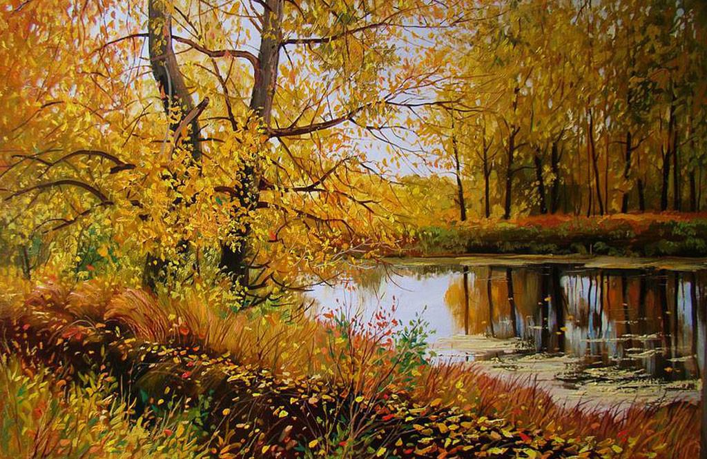 картина осень фото или пейзаж