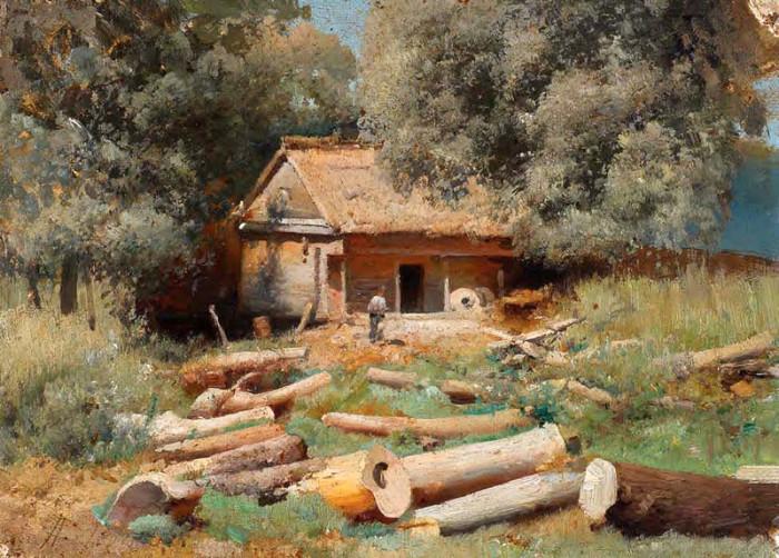 Автор картины – украинский живописец-пейзажист Левченко Пётр Алексеевич.